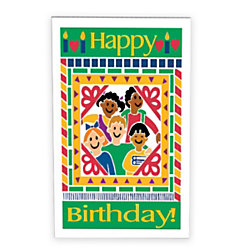The Master Teacher 4 Kids And Candles Birthday Cards With Envelopes