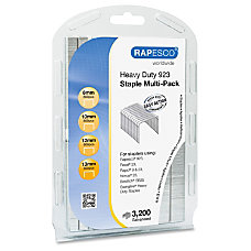 Rapesco 923 Galvanized Staples Multi Pack