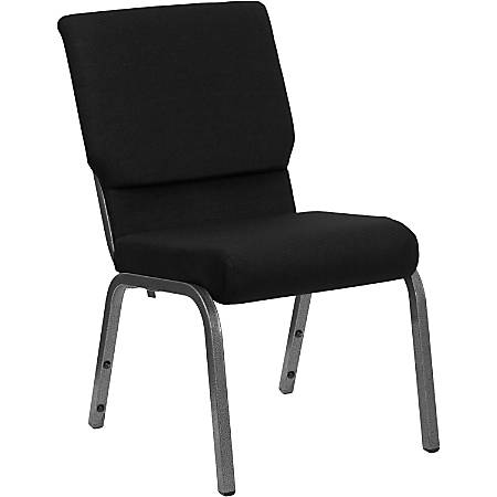 Flash Furniture HERCULES Stacking Church Chair, Black/Silver