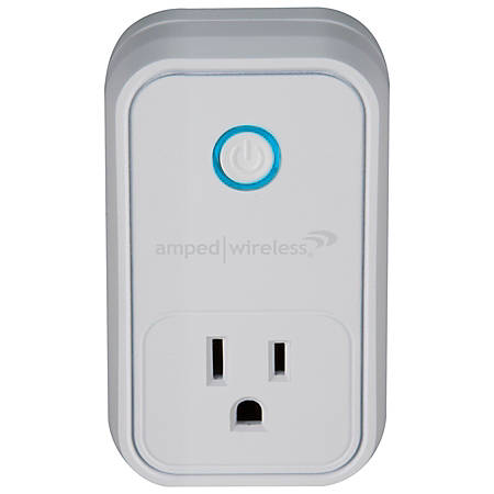 Amped Wireless Smart Plug, White, AWP48