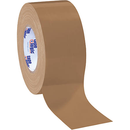 "Tape Logic® Color Duct Tape, 3"" Core, 3"" x 180', Brown, Case Of 16"