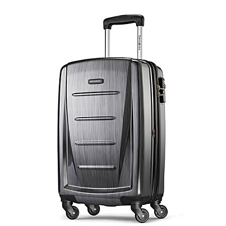 """Samsonite® Winfield 2 Polycarbonate Rolling Spinner, 20""""H x 13 1/2""""W x 9""""D, Charcoal"""