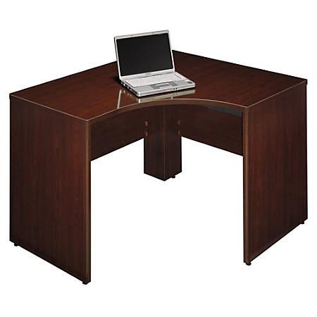 "Bush Business Furniture Quantum Corner Desk Left Handed, 48""W x 42""D, Harvest Cherry, Standard Delivery"