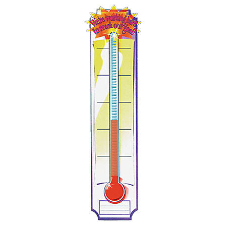 "Eureka Goal-Setting Thermometer Vertical Banner, 45"" x 12"", Multicolor, Pre-K - Grade 5"