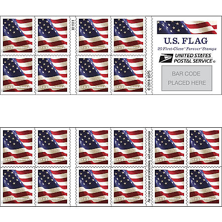 USPS FOREVER® STAMPS, Booklet of 20 Postage Stamps, Stamp Design May Vary