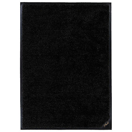 "M + A Matting Colorstar Plush Floor Mat, 36"" x 120"", Plush Black"