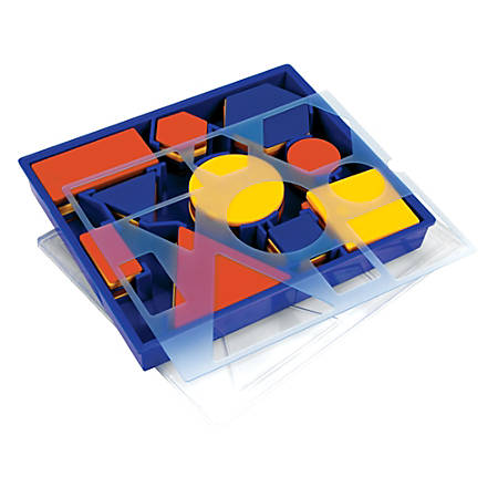 "Learning Resources® Attribute Blocks Desk Set, 8 1/2"" x 7 1/4"", Pre-K - Grade 5"