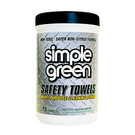 Simple Green® Multipurpose Safety Towels, Box Of 75