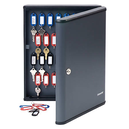STEELMASTER® 60-Key Security Cabinet, Charcoal Gray
