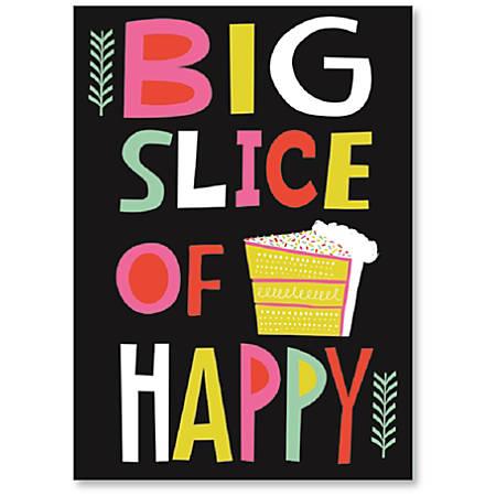 "Viabella Birthday Greeting Card With Envelope, Big Slice, 5"" x 7"""