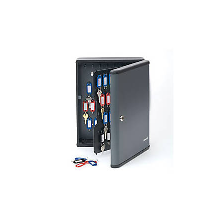 STEELMASTER® 90-Key Security Cabinet, Charcoal Gray