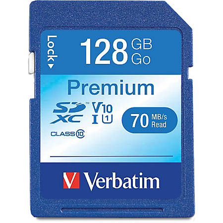 Verbatim™ Premium UHS-I Class 10 SDXC Memory Card, 128GB