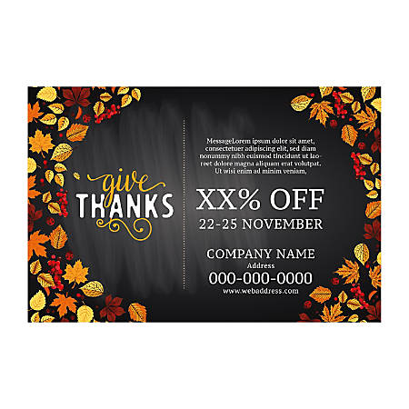 Banner Template, Horizontal, Fall Leaf