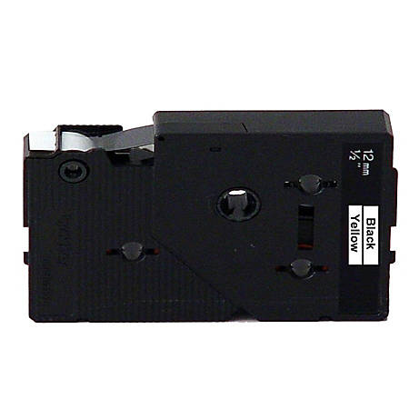 "Brother® TC-7001 Black-On-Yellow Tape, 0.5"" x 25'"
