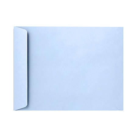 "LUX Open-End Envelopes With Peel & Press Closure, 9"" x 12"", Baby Blue, Pack Of 50"