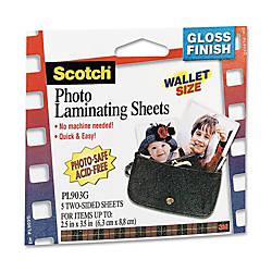 3M Self Sealing Photo Laminating Sheets