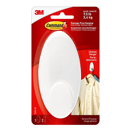 3M™ Command™ Clothes Hanger, Large, White