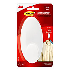 3M Command Clothes Hanger Large White