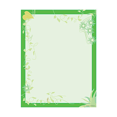 "Barker Creek Computer Paper, 8 1/2"" x 11"", Go Green, Pack Of 50 Sheets"