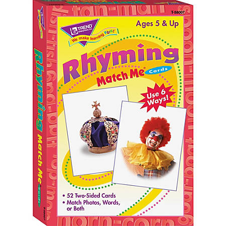 Trend Rhyming Words Match Me Flash Cards - Educational