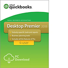 QuickBooks Desktop Premier 2018 For 4