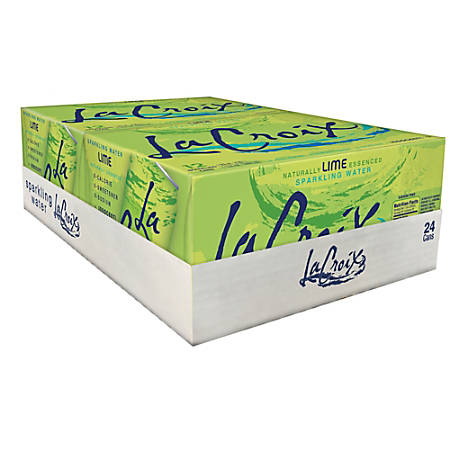 LaCroix Sparkling Water, Lime, 12 Oz, Case Of 24
