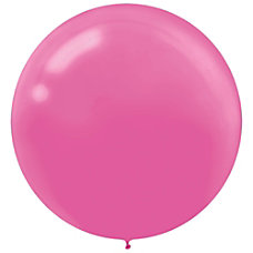 Amscan 24 Latex Balloons Bright Pink