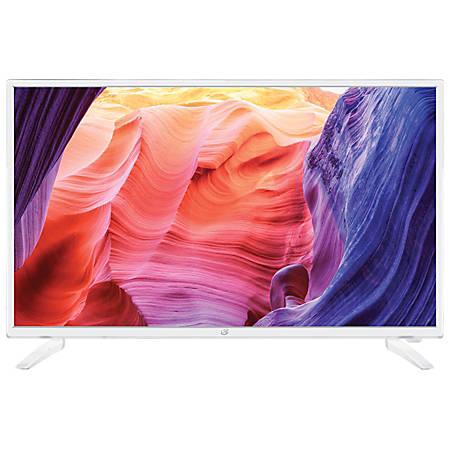 "GPX TDE3274 32"" LED HDTV With DVD Player, White"