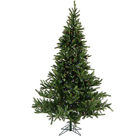 Fraser Hill Farm Artificial Foxtail Pine Christmas Tree With Multicolor LED String Lighting And EZ Connect, 9'