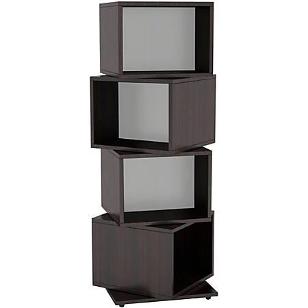 Atlantic Rotating Cube 216 Disc Media Tower In Espresso
