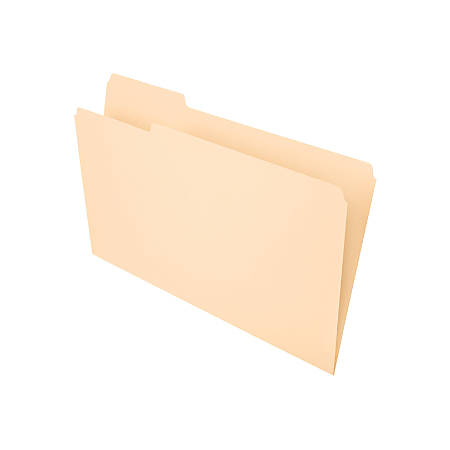 Office Depot® Brand File Folders, 1/3 Tab Cut, Left Position, Legal Size, Manila, Pack Of 100