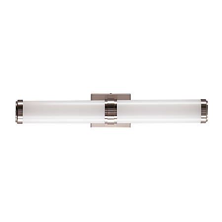 """Southern Enterprises Clarkson Indoor LED Wall Sconce, 5""""H, White Shade/Chrome Base"""