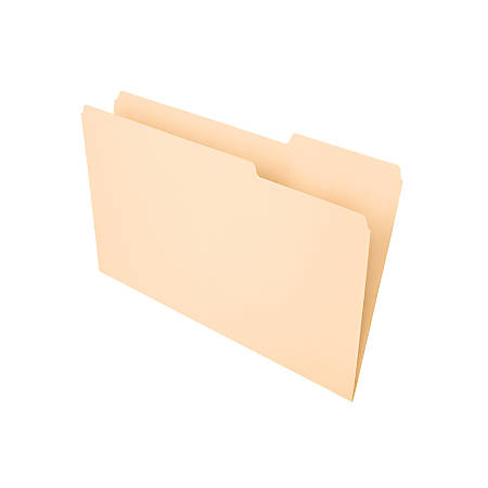 Office Depot® Brand File Folders, 1/3 Tab Cut, Right Position, Legal Size, Manila, Pack Of 100