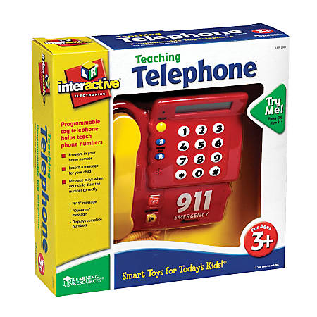 """Learning Resources® Pretend & Play® Teaching Telephone®, 14 7/16""""W x 10 1/8""""W x 8 1/8""""D, Pre-K - Grade 1"""