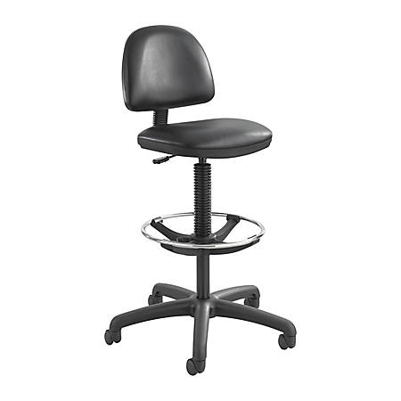 Safco Precision Extended-Height Chair, Black Frame, Black Vinyl