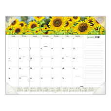 AT A GLANCE Floral Panoramic Monthly