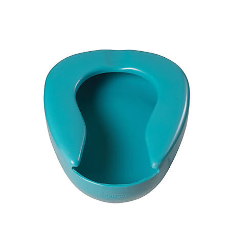 DMI® Deluxe Smooth Contoured Bedpan, 7 Qt, Teal
