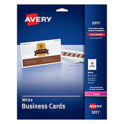 Avery Laser Microperforated Business Cards 2
