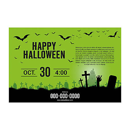 Window Decal Template, Green Background, Horizontal