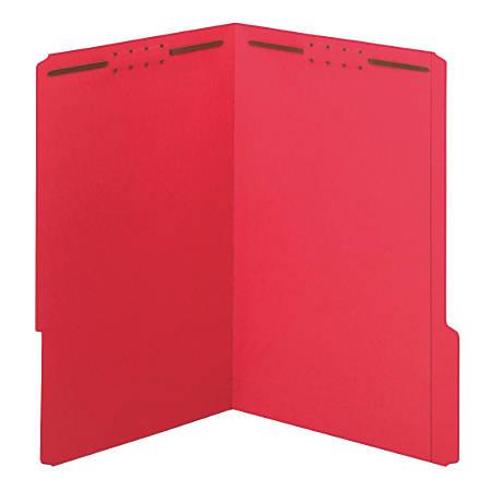 Office Depot® Brand Color Fastener File Folders, Legal Size, Red, Pack Of 50 Folders