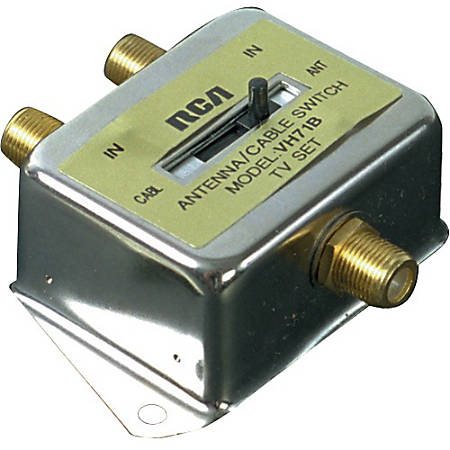 RCA 2 Way A/B Coaxial Cable Switch