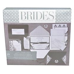 brides premium blackwhite invitation kit 5 x 7 - Officemax Wedding Invitations