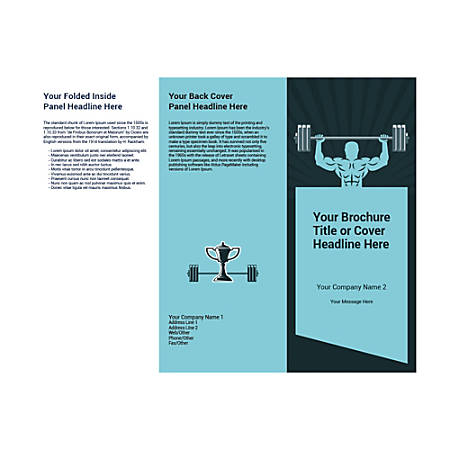 Customizable Trifold Brochure, Weightlifting