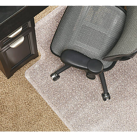 "Realspace® DuraMat Chair Mat For Low-Pile Carpet, Studded, 36""W x 48""D, Clear"