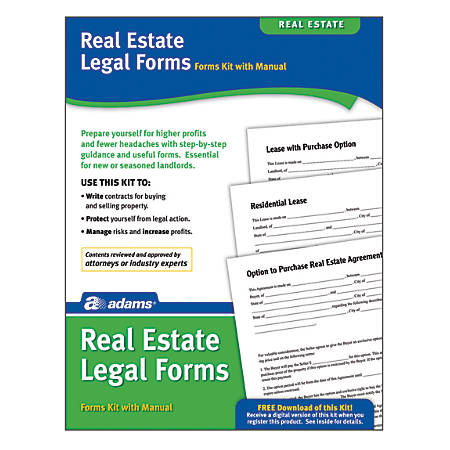 "Adams® Real Estate Legal Forms Kit, 8 1/2"" x 11"""