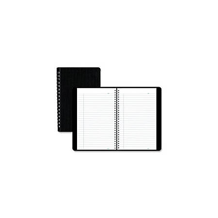 """Blueline® Duraflex Notebook, 9 1/2"""" x 6"""", College Ruled, 320 Pages (160 Sheets), 50% Recycled, Black/White"""