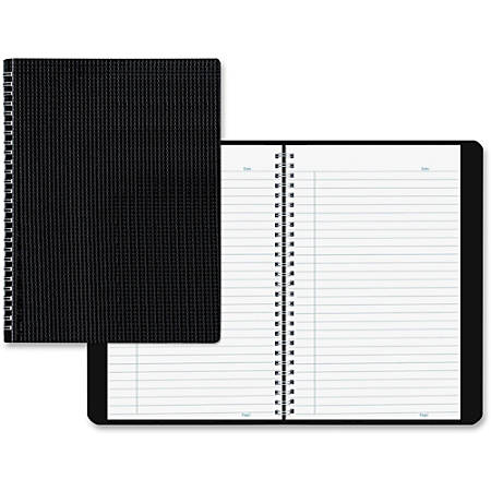 """Blueline® Duraflex Notebook, 8 1/2"""" x 11"""", College Ruled, 160 Sheets, 50% Recycled, Black"""