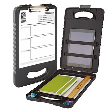 "Office Depot® Brand Form Holder Storage Clipboard Box, 15""H x 13""W x 2""D, Charcoal"