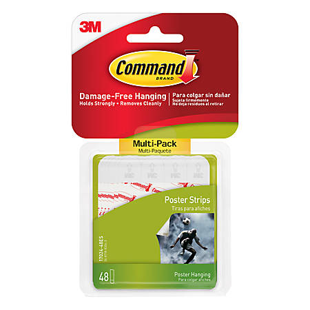 3M™ Command™ Poster Strips, Pack Of 48 Strips