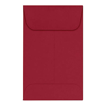 "LUX Coin Envelopes, #1, 2 1/4"" x 3 1/2"", Garnet, Pack Of 250"